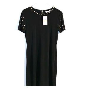 Michael Kors Dresses - Michael Kors black with gold studs cocktail dress